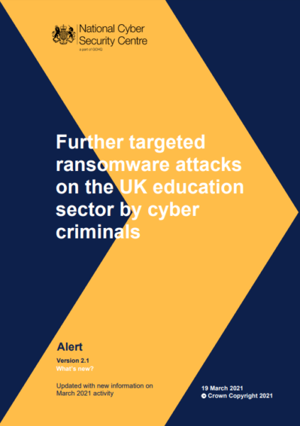 NCSC alert Ransomware